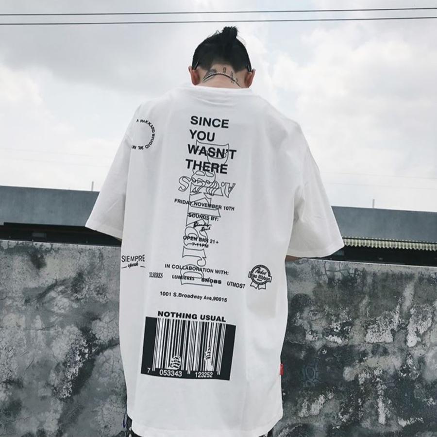 バーコードプリント ビッグTシャツ / メンズ 韓国ファッション ストリート ビッグトップス|atmarvelous|10