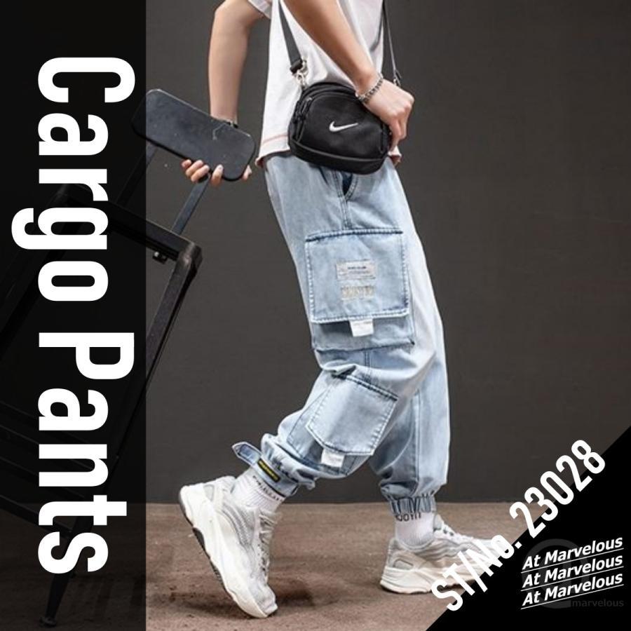 メンズ デニム カーゴパンツ ジョガーパンツ ジーンズ ストリートファッション アットマーベラス atmarveous atmarvelous