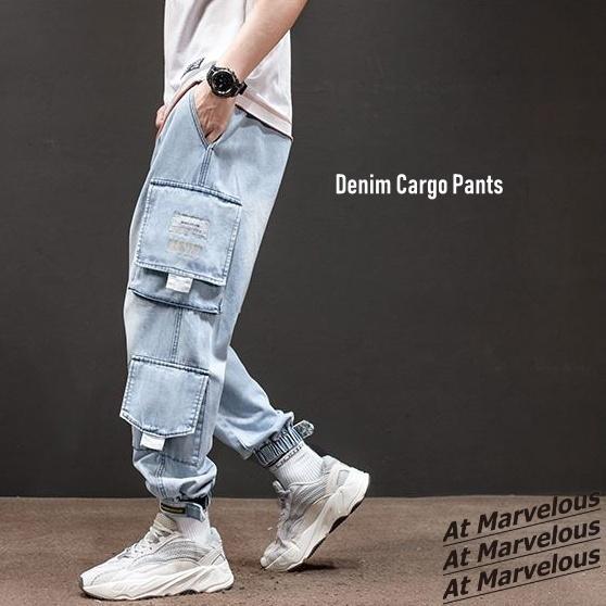 メンズ デニム カーゴパンツ ジョガーパンツ ジーンズ ストリートファッション アットマーベラス atmarveous atmarvelous 02