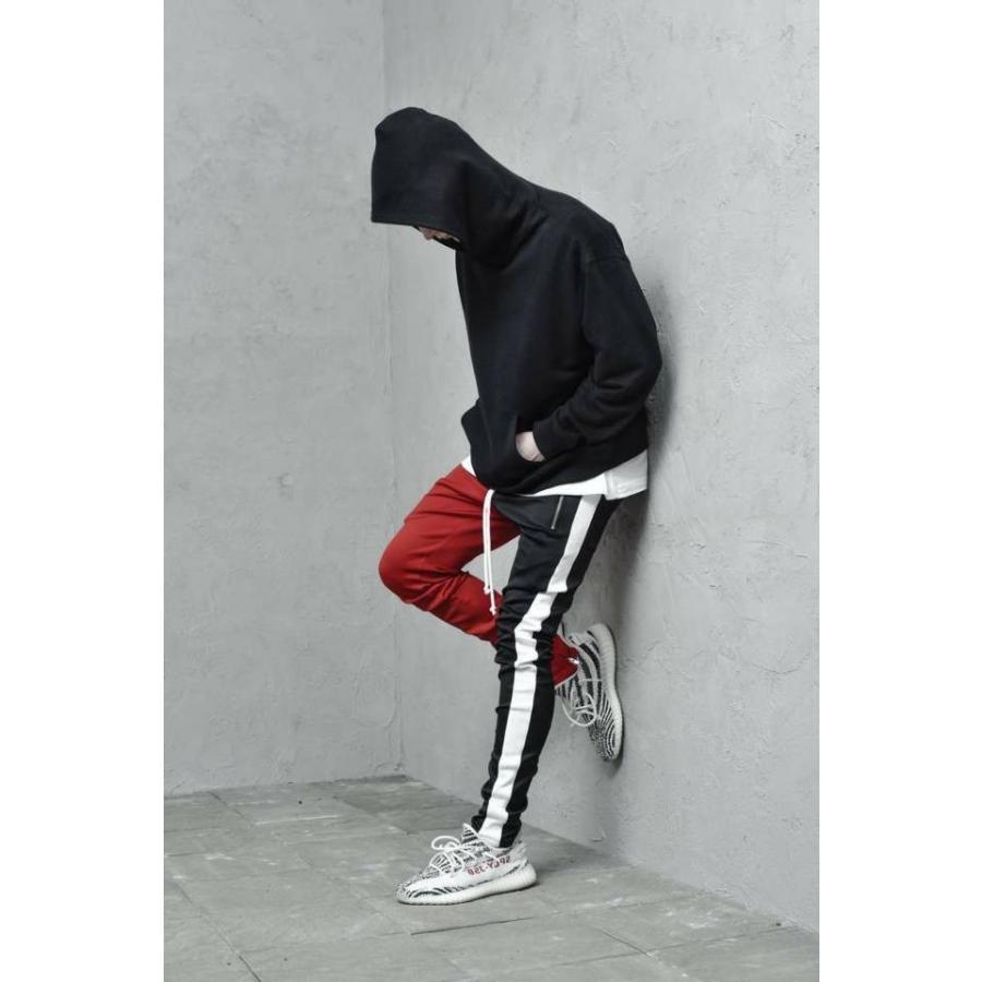 ジップ使い アシメカラー ラインパンツ メンズ ストリートファッション おしゃれ ジャージ|atmarvelous|11