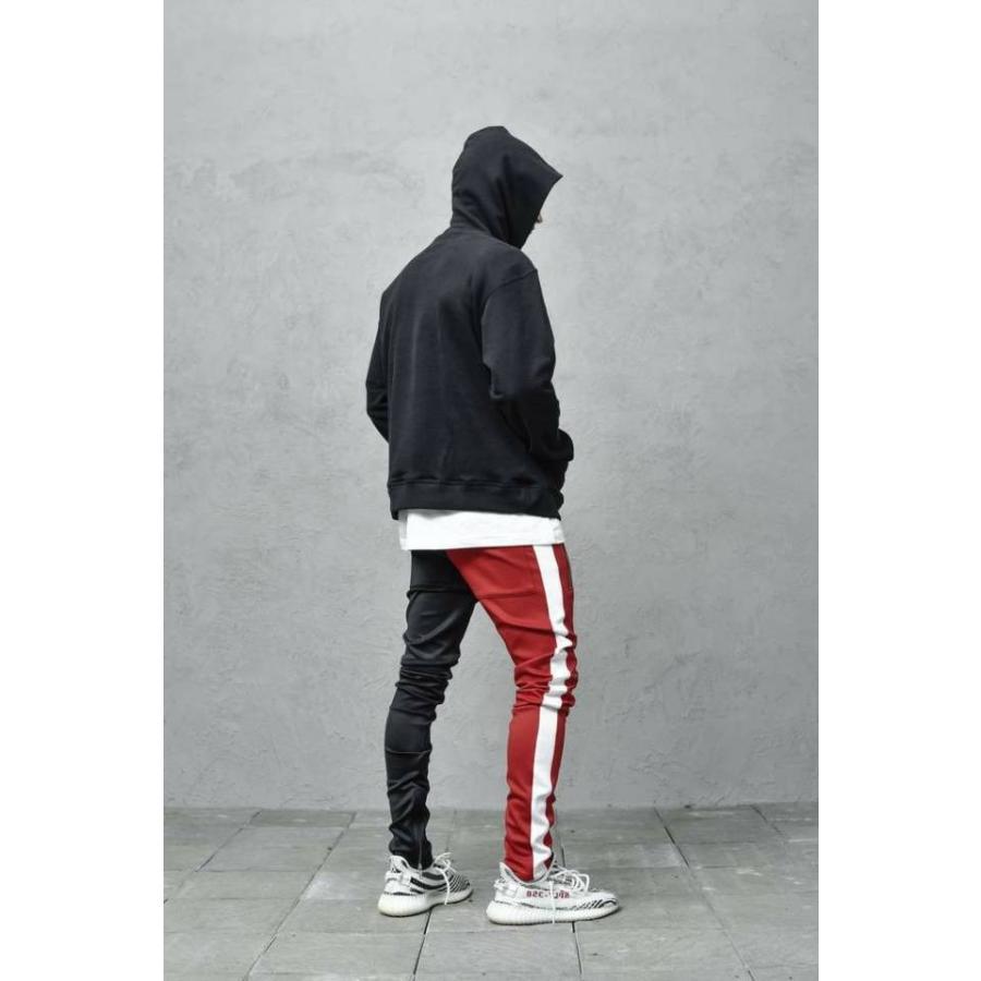 ジップ使い アシメカラー ラインパンツ メンズ ストリートファッション おしゃれ ジャージ|atmarvelous|13