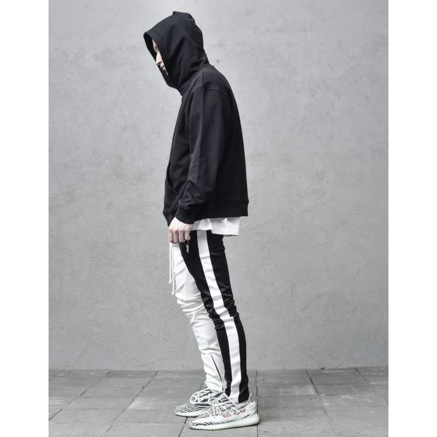 ジップ使い アシメカラー ラインパンツ メンズ ストリートファッション おしゃれ ジャージ|atmarvelous|15
