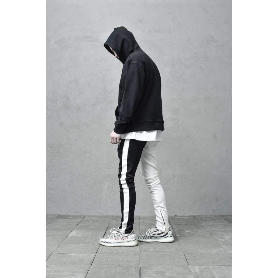 ジップ使い アシメカラー ラインパンツ メンズ ストリートファッション おしゃれ ジャージ|atmarvelous|16
