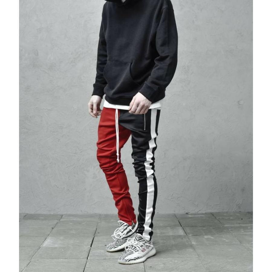 ジップ使い アシメカラー ラインパンツ メンズ ストリートファッション おしゃれ ジャージ|atmarvelous|10