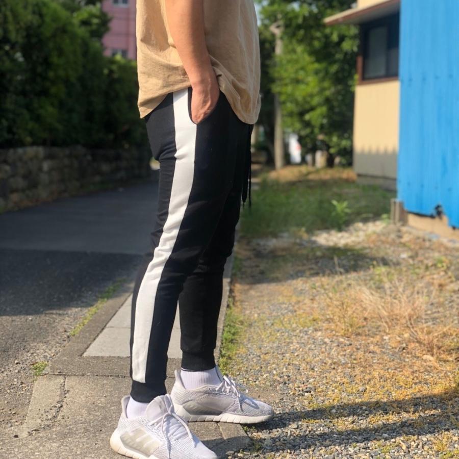 ジョガーパンツ スウェットパンツ メンズ  レディース ユニセックス ラインパンツ おうち時間|atmarvelous|15