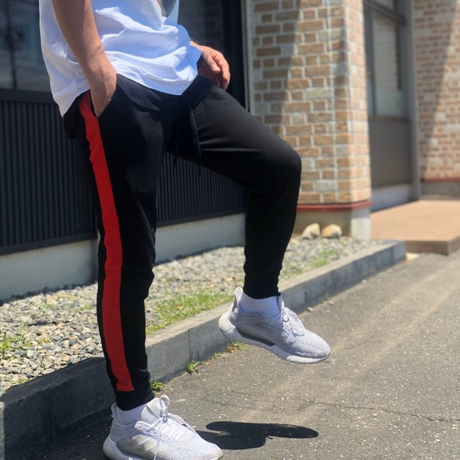 ジョガーパンツ スウェットパンツ メンズ  レディース ユニセックス ラインパンツ おうち時間|atmarvelous|16