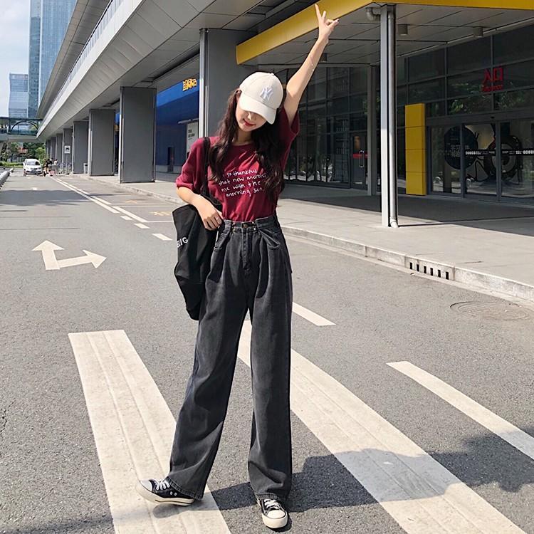 レディース デニムパンツ ハイウエスト ワイドパンツ レディース ゆったり 脚長効果 ジーンズ 韓国ファッション オルチャン atmarvelous 12