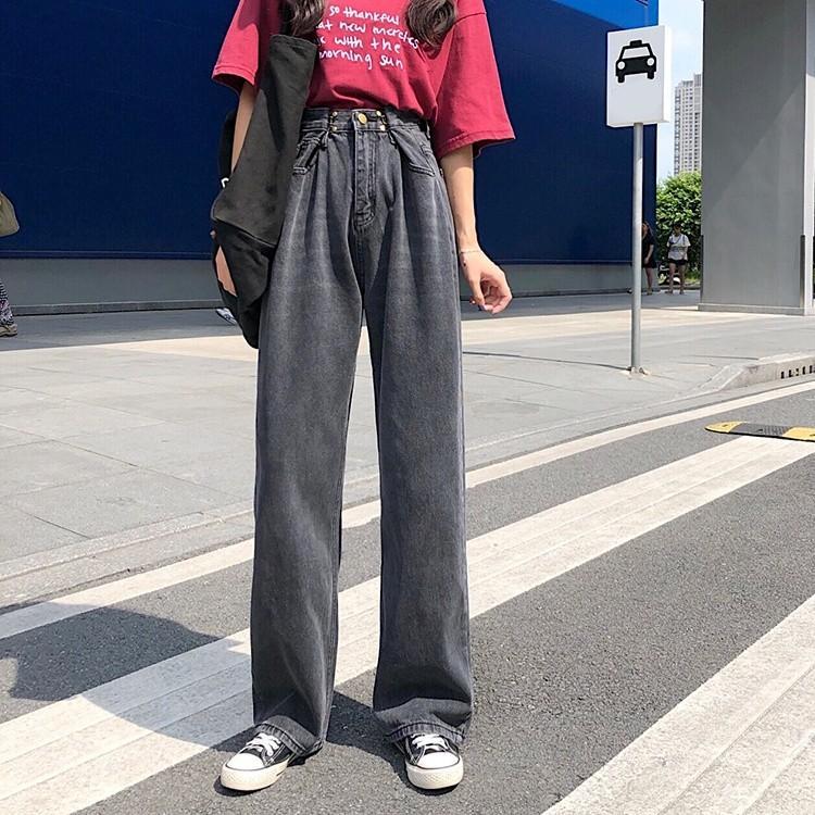 レディース デニムパンツ ハイウエスト ワイドパンツ レディース ゆったり 脚長効果 ジーンズ 韓国ファッション オルチャン atmarvelous 13
