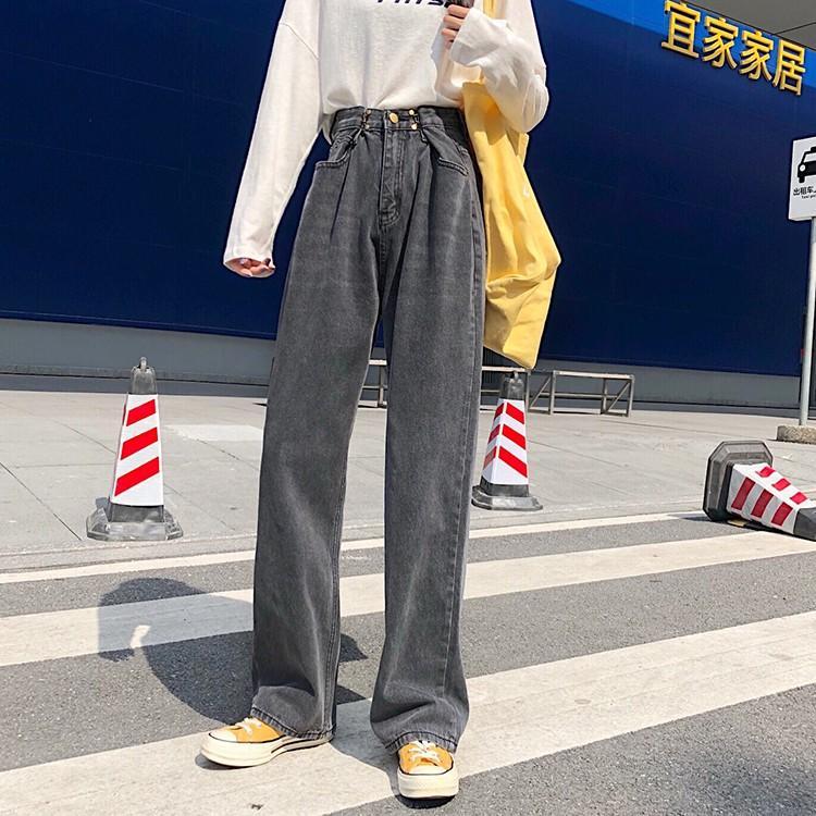 レディース デニムパンツ ハイウエスト ワイドパンツ レディース ゆったり 脚長効果 ジーンズ 韓国ファッション オルチャン atmarvelous 14