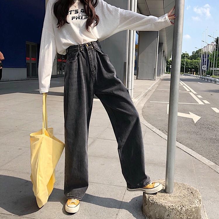 レディース デニムパンツ ハイウエスト ワイドパンツ レディース ゆったり 脚長効果 ジーンズ 韓国ファッション オルチャン atmarvelous 15