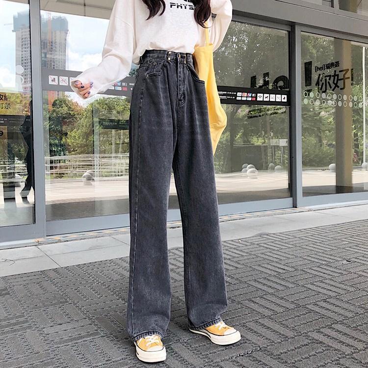 レディース デニムパンツ ハイウエスト ワイドパンツ レディース ゆったり 脚長効果 ジーンズ 韓国ファッション オルチャン atmarvelous 16