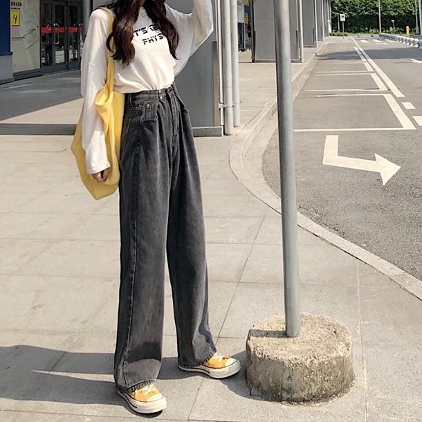 レディース デニムパンツ ハイウエスト ワイドパンツ レディース ゆったり 脚長効果 ジーンズ 韓国ファッション オルチャン atmarvelous 17