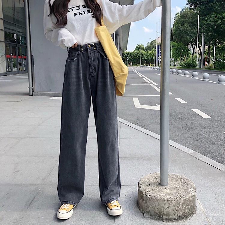 レディース デニムパンツ ハイウエスト ワイドパンツ レディース ゆったり 脚長効果 ジーンズ 韓国ファッション オルチャン atmarvelous 18