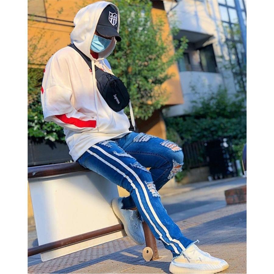 ダメージジーンズ スキニーパンツ メンズ ラインパンツ ストレッチデニム 大きいサイズ ストリートファッション atmarvelous 17