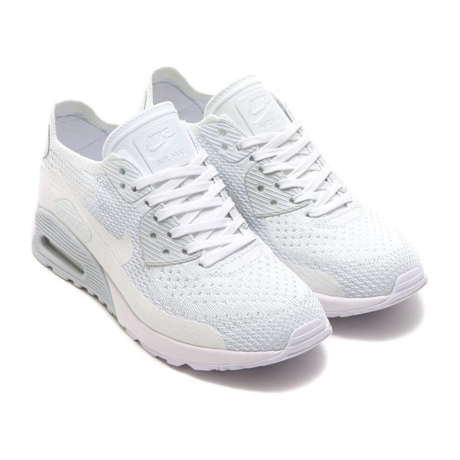 Womens Nike Air Max 90 Ultra 2. 0 Flyknit Running Shoes White Pure Platinum White 881109 104 881109 104