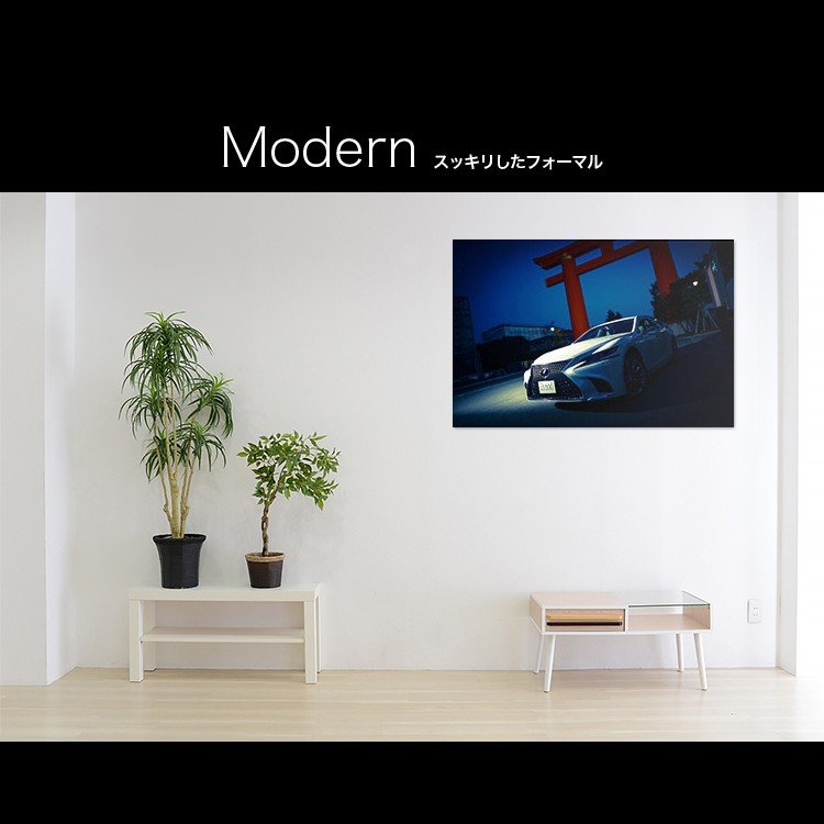 レクサス レクサス LS500 500h カスタム【日本製】アートボード/アートパネル artmart アートマート 絵画や写真をアルミフレームで表現(90p-fb0020-blu-sa)