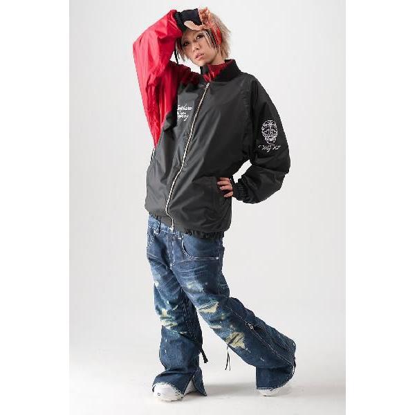 限定芸能人が選ぶ!高級スノボウェアブランド!アトマイズ zoro 黒×denim スノーボードウェア メンズ レディース 上下セット 人気 ウエア (30w-b005a)