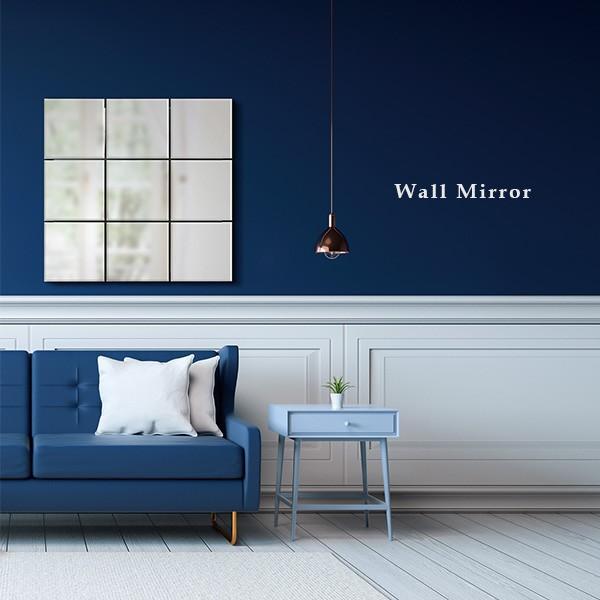 ウォールミラー 壁掛けミラー ミラー 鏡 壁掛け 壁掛け鏡 四角 ノンフレーム シンプル 化粧鏡 高級感 女性