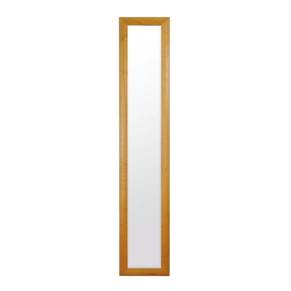ウォールミラー 幅35cm 縦型 姿見 サクラ材 カベピタ 木目フレーム 寝室 シンプル オイル塗装仕上げ ミラー