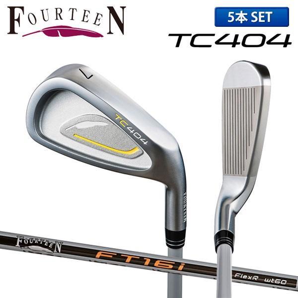 フォーティーン ゴルフ TC404 アイアンセット 5本組 (6-P) FT-16i カーボンシャフト