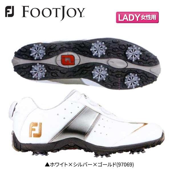 「レディース」 フットジョイ ゴルフ ロープロ スポーツ ボア 97069 Boa ゴルフシューズ ホワイト×シルバー×ゴールド(#97069) FOOTJOY BOA FJ