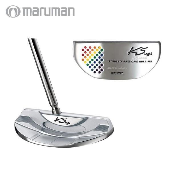 マルマン ゴルフ KS-163M RB センターシャフト パター ステディフレックス MJ110 スチール レインボーカラー