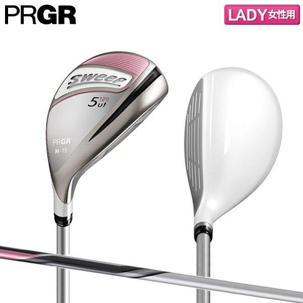 「レディース」 プロギア ゴルフ スイープ ユーティリティー NEWスプリング カーボンシャフト ピンク PRGR SWEEP