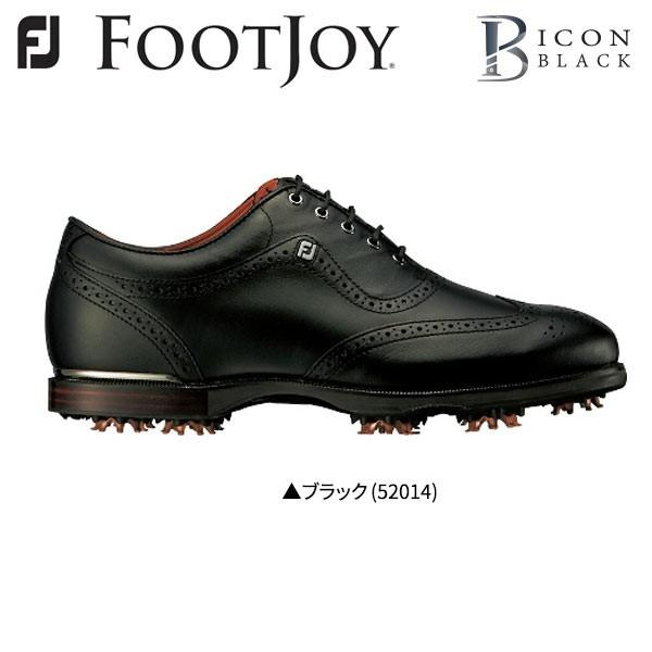 「幅2E」 フットジョイ ゴルフ アイコン ブラック 52014 ゴルフシューズ ブラック FootJoy ICON 黒