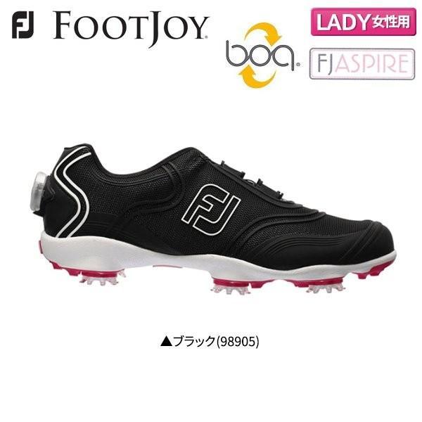 「レディース」 フットジョイ FJ アスパイア 98905 ボア ゴルフシューズ ブラック FOOTJOY Aspire Boa