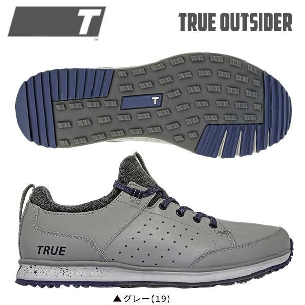トゥルーリンクスウェア ゴルフ トゥルー アウトサイダー ゴルフシューズ truelinkswear グレー(19) TRUE OUTSIDER