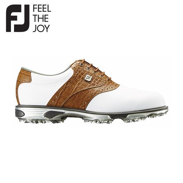 フットジョイ ゴルフ ドライジョイズ ツアー 53696 ゴルフシューズ ホワイト×タン FootJoy FJ