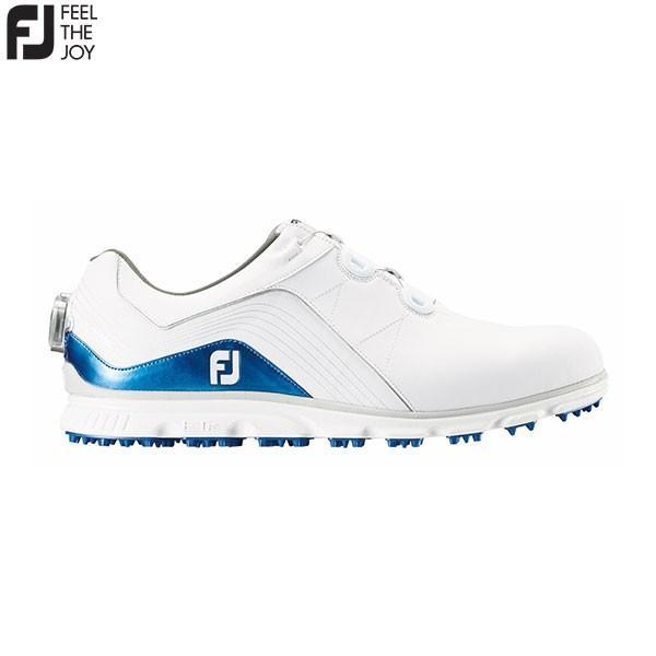 フットジョイ ゴルフ PRO SL BOA 53291 スパイクレス ゴルフシューズ FOOTJOY プロエスエルボア ホワイト×ブルー