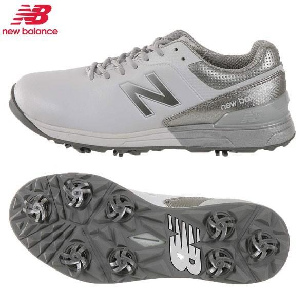 「25.0cm〜29.5cm/幅2E」 ニューバランス ゴルフ MG2500 V1 ゴルフシューズ ホワイト×シルバー Newbalance
