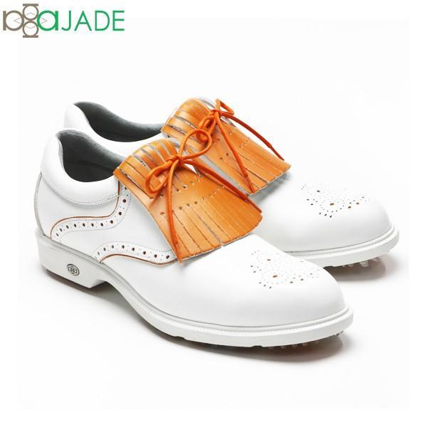 アジェイド ゴルフ ハーマン HARMAN AJM-002 ゴルフシューズ ホワイト×オレンジ