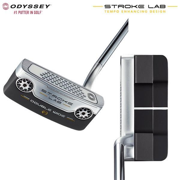 オデッセイ ゴルフ ストロークラボ ダブルワイド フロー パター スチール・カーボン複合シャフト ODYSSEY STROKE LAB DOUBLE WIDE FLOW