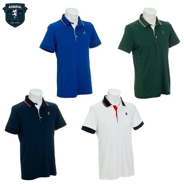 「送料無料/クリアランス」 アドミラル ゴルフ ADMA906 7W ポロシャツ ADMIRAL 半袖シャツ ゴルフウェア