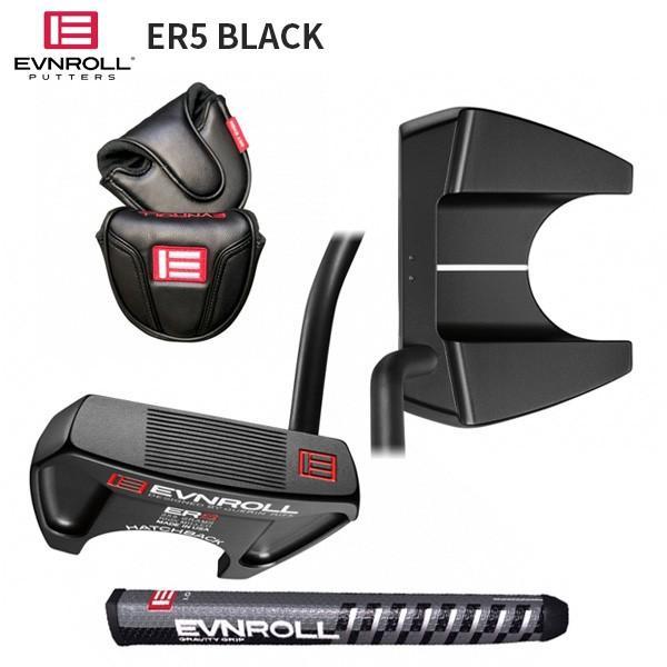 「数量限定」 イーブンロール ゴルフ ER5 ハッチバック ブラック パター EVNROLL ER-5 Hatchback 黒