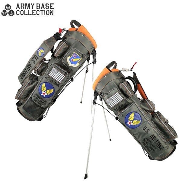 「数量限定」 アーミーベースコレクションゴルフ USエアフォース ABC029SB スタンド キャディバッグ ARMY BASE COLLECTION AIR FORCE グレー ゴルフバッグ