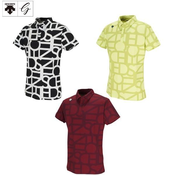 デサント ゴルフ タイポグラフィモチーフ DGMOJA00 ショートスリーブシャツ ゴルフウェア DESCENTE 半袖ポロシャツ