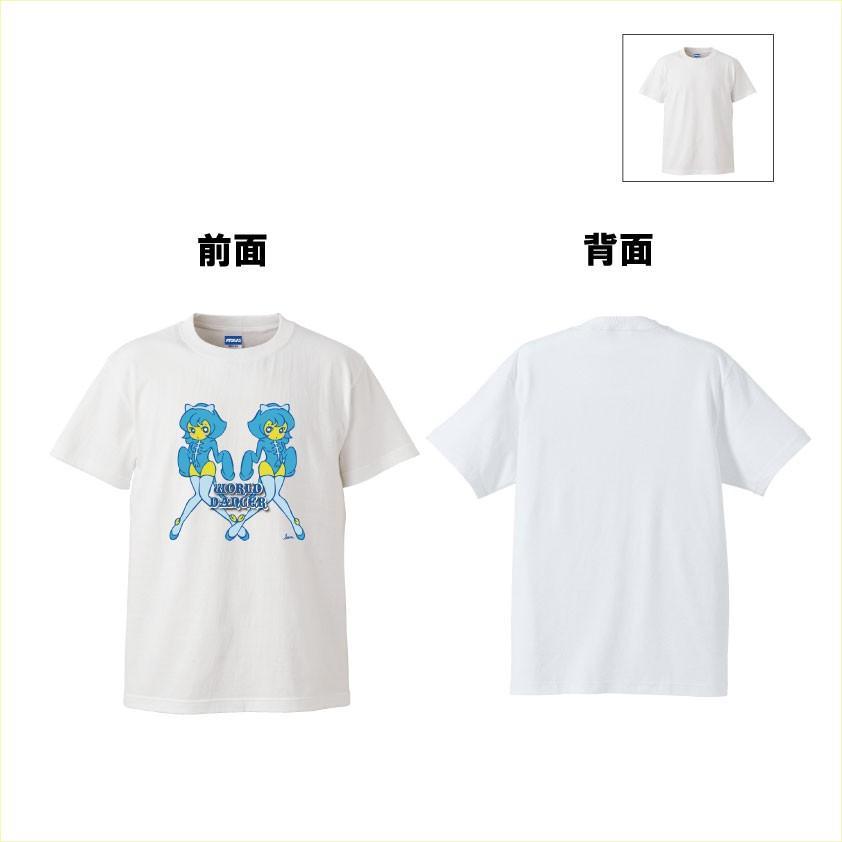 猫T-シャツ ふたご猫 青 イラストT-シャツ ツイン ねこ少女 |atoraskobo|03
