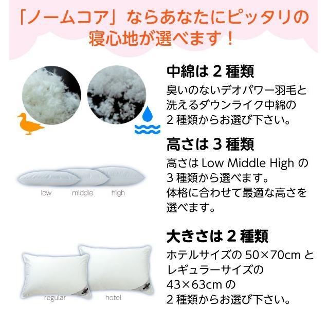 洗える ホテルサイズ 50×70 防ダニ枕カバー付き 日本製 極上の快眠とリラックス 究極の枕 ノームコア ダクロン Down-likeダウンライク|atorie-moon|03