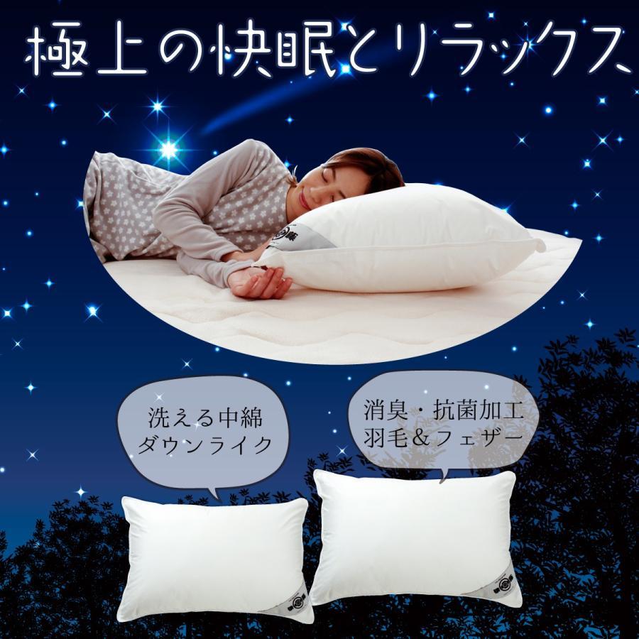 洗える ホテルサイズ 50×70 防ダニ枕カバー付き 日本製 極上の快眠とリラックス 究極の枕 ノームコア ダクロン Down-likeダウンライク|atorie-moon|07