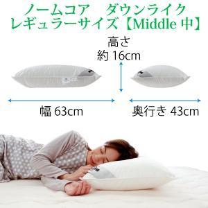 洗える レギュラーサイズ 43×63 防ダニ枕カバー付き 日本製 極上の快眠とリラックス 究極の枕 ノームコア ダクロン Down-likeダウンライク atorie-moon 09