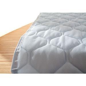 敷きパッド シングル ニットワッフル 吸水 速乾 涼感素材|atorie-moon|06