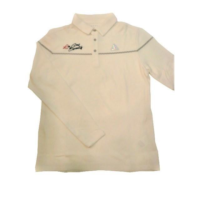 ルコックゴルフ le coq sportif GOLF ゴルフ メンズウェア 吸湿発熱 長袖ポロシャツ 30%OFF L、LL寸 ホワイト QG1004