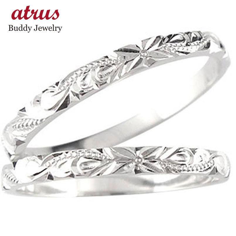 人気が高い ペアリング プラチナ 2本セット pt900 ハワイアンジュエリー 結婚指輪 安い ハワイアンリング リング スクロール 波 プラチナ900 ミル打ち 地金 カップル, ブランノワール db98af61