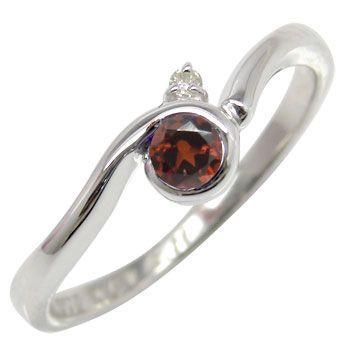 保障できる ピンキーリング ガーネットリング ダイヤモンド ホワイトゴールドk10指輪 k10 10金 ダイヤ ストレート 宝石 送料無料, ミエマチ ee106f2e