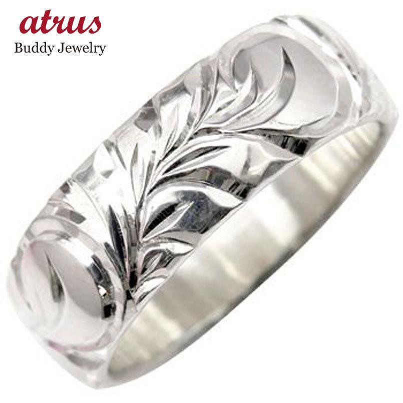 独特の上品 ハワイアンジュエリー ピンキーリング ハワイアンリング 指輪 ホワイトゴールドK18 地金リング 18金 k18wg ストレート 送料無料, セレクトショップルチア 9768602d