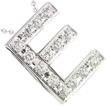 新しい季節 イニシャル ネーム メンズ ダイヤモンド ネックレス E ペンダント ネックレス プラチナ900 ダイヤ 0.18ct チェーン 人気 男性用 送料無料, いづみ屋 20cd59eb