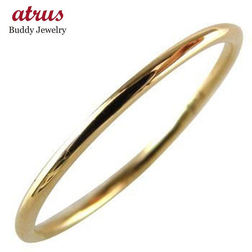 18金 ピンキーリング 指輪 ゴールド 18k ピンクゴールドk18 重ね付け 華奢 ストレート 送料無料|atrus